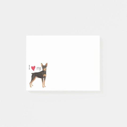 I Love my Min Pin Post-it® Notes