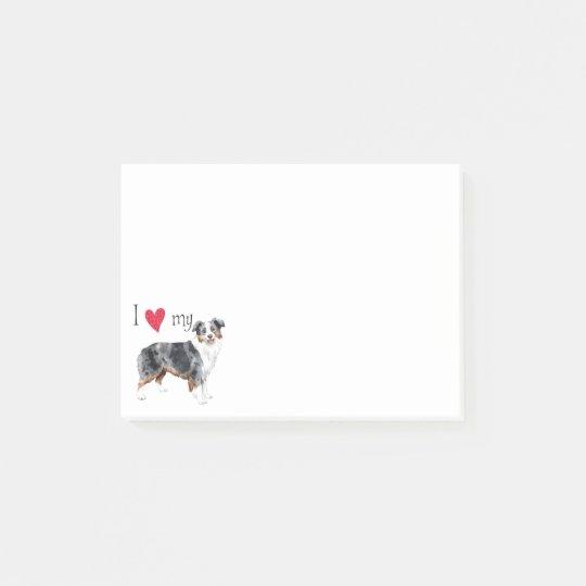 I Love my Mini American Shepherd Post-it® Notes