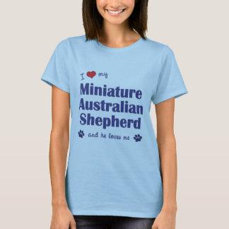 I Love My Miniature Australian Shepherd (Male Dog) T-Shirt