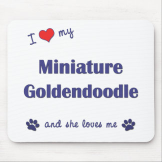 I Love My Miniature Goldendoodle (Female Dog) Mouse Pad