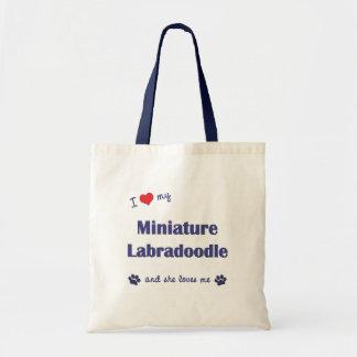 I Love My Miniature Labradoodle (Female Dog) Budget Tote Bag
