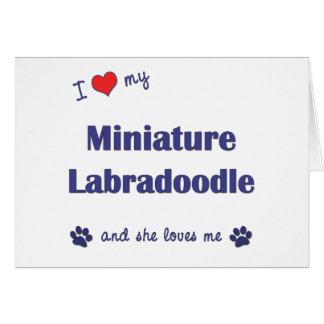 I Love My Miniature Labradoodle (Female Dog) Greeting Card