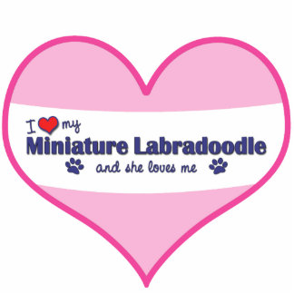 I Love My Miniature Labradoodle (Female Dog) Photo Sculpture Ornament