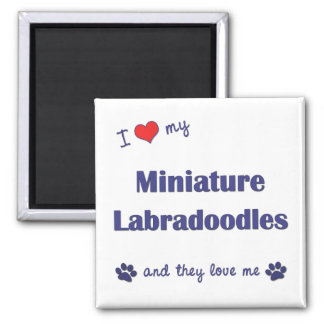 I Love My Miniature Labradoodles (Multiple Dogs) Fridge Magnets