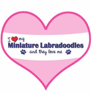 I Love My Miniature Labradoodles (Multiple Dogs) Photo Sculpture Ornament