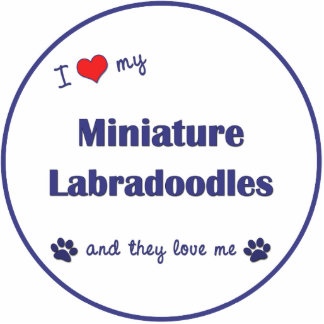 I Love My Miniature Labradoodles (Multiple Dogs) Photo Cutouts