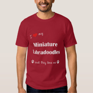 I Love My Miniature Labradoodles (Multiple Dogs) Tees