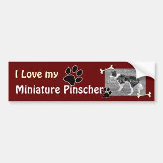 I love my Miniature Pinscher Bumper Sticker