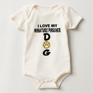 I Love My Miniature Pinscher Dog Designs Baby Bodysuit