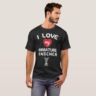 I love my Miniature Pinscher Face Graphic Art T-Shirt