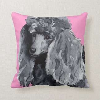 I Love my Miniature Poodle Throw Pillow