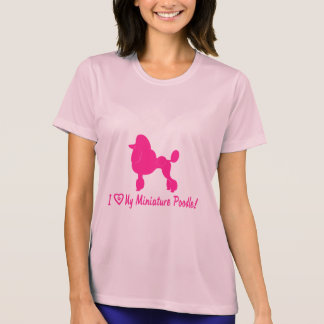 I Love My Miniature Poodle with Heart and Paws T-Shirt