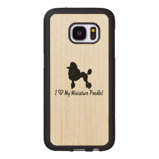 I Love My Miniature Poodle with Heart and Paws Wood Samsung Galaxy S7 Case