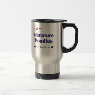 I Love My Miniature Poodles (Multiple Dogs) Coffee Mugs