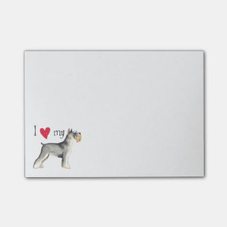 I Love my Miniature Schnauzer Post-it® Notes