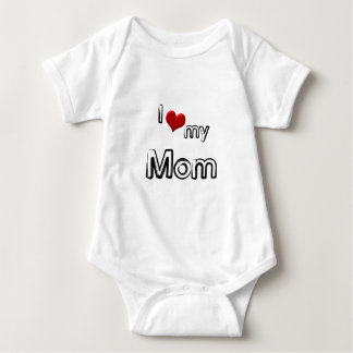i love my mom baby bodysuit