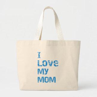 I Love My Mom Tote Bags