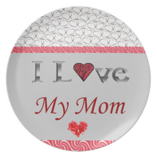 """I Love My Mom"" Collectable Plate"