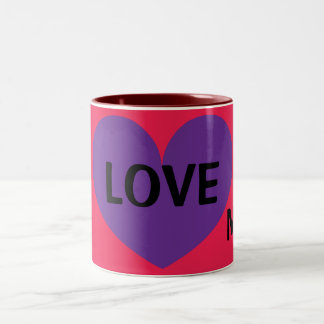 I LOVE My Mom Cute Heart Design Coffee Mug for Mom