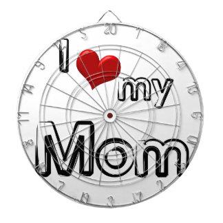 i love my mom dartboard