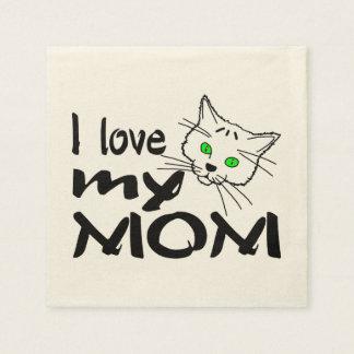 I Love My Mom Disposable Napkins