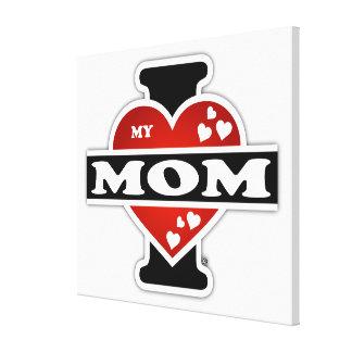 I Love My Mom Heartbeats Canvas Prints