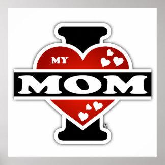 I Love My Mom Heartbeats Poster