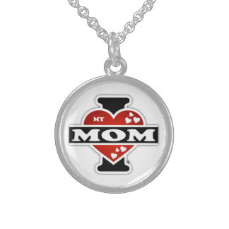 I Love My Mom Heartbeats Sterling Silver Necklace