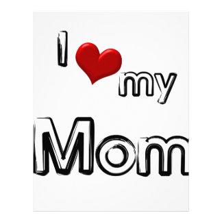 i love my mom letterhead template