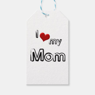 i love my mom pack of gift tags