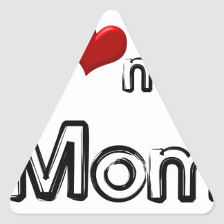 i love my mom triangle sticker