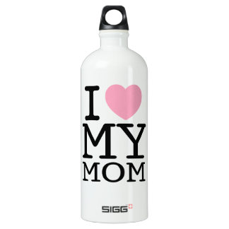 I Love My Mom Water Bottle