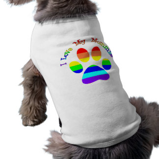 I Love My Mommies Gay Pride Dog Tees Pet T-shirt