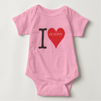 I LOVE MY MOMMY - Baby Jersey Bodysuit