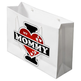 I Love My Mommy Heartbeats Large Gift Bag