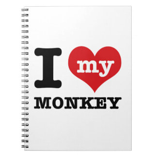 I love my monkey note books
