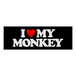 I LOVE MY MONKEY POSTER