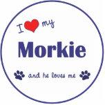 I Love My Morkie (Male Dog) Photo Cutout