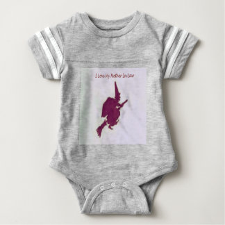 I love my mother in law1 baby bodysuit