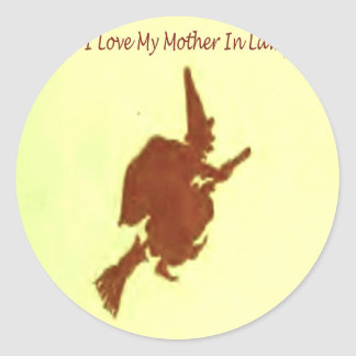 I love my mother in law classic round sticker