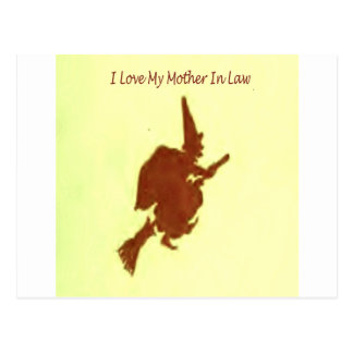 I love my mother in law postcard