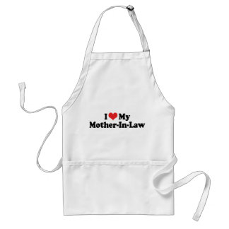 I Love My Mother-In-Law Standard Apron