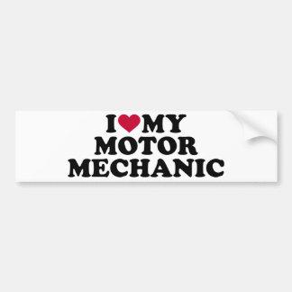 I love my motor mechanic bumper sticker