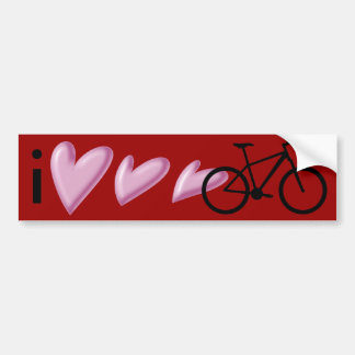 I love my mountain bike! bumper sticker