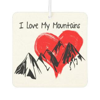 I Love My Mountains! Air Freshener