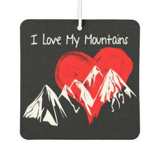 I Love My Mountains! Car Air Freshener