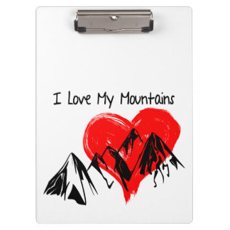I Love My Mountains! Clipboard