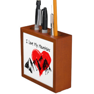 I Love My Mountains! Desk Organizer