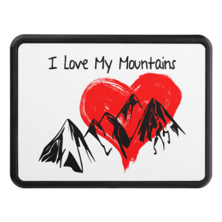 I Love My Mountains! Trailer Hitch Cover