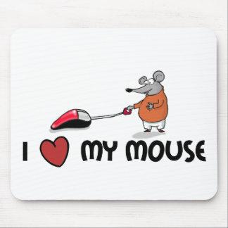 I love my mouse cartooned mousepad